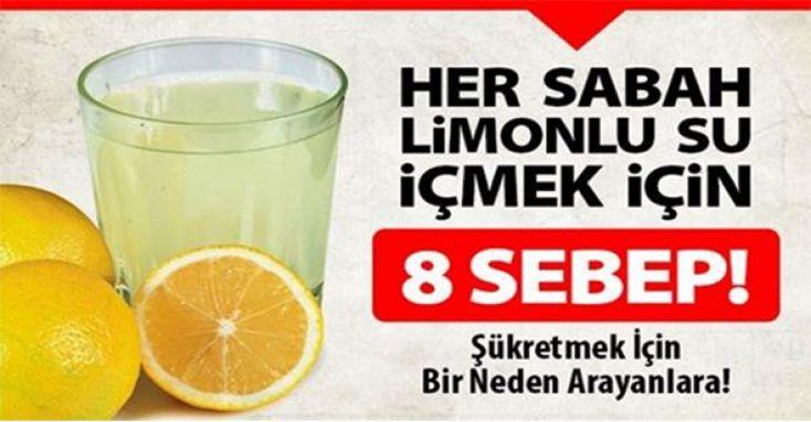 Her sabah limonlu su içiyorlar, neden mi?