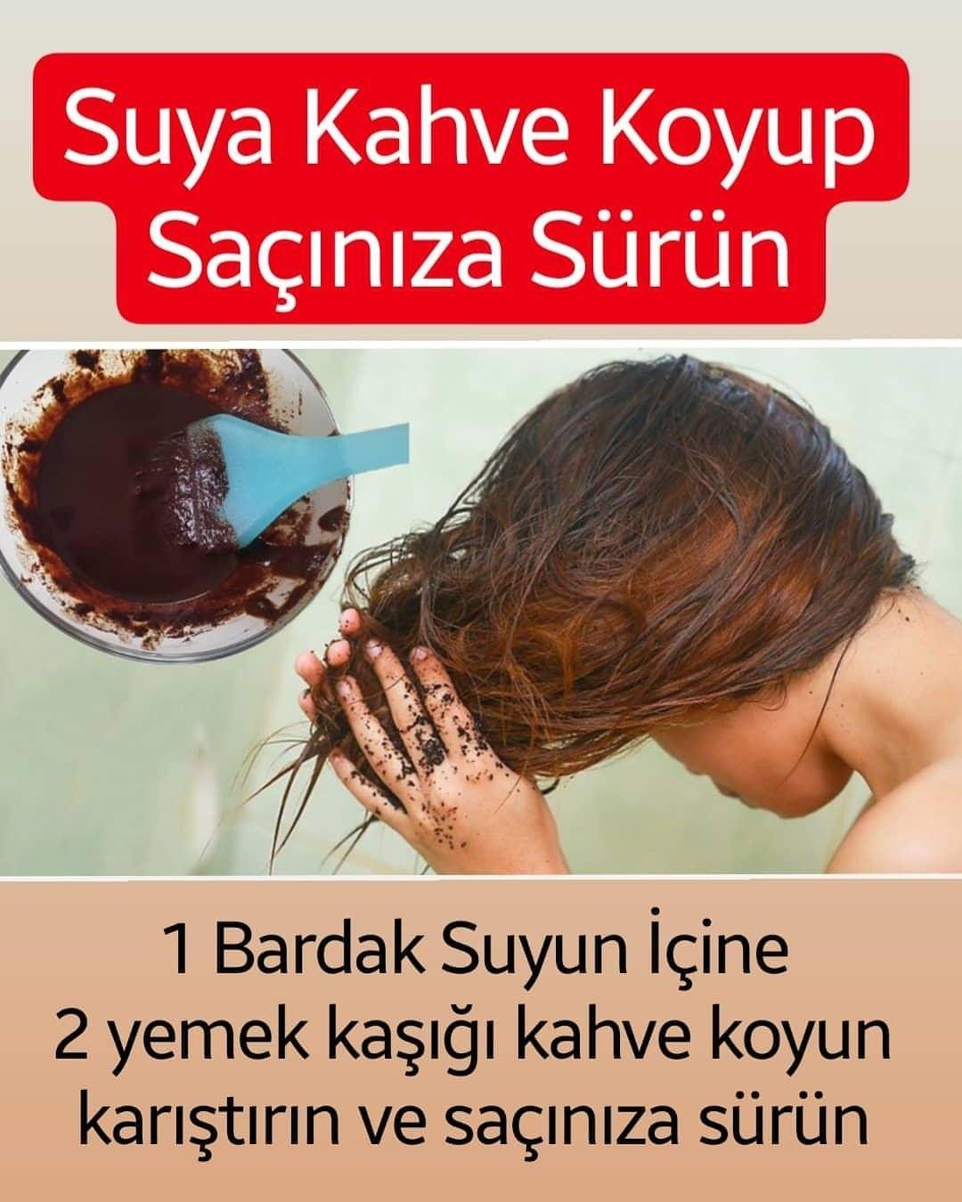 Suya Kahve Koyup Saçınıza Sürün Sonuç muhteşem