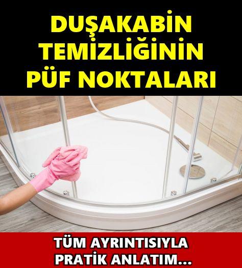 Duşa Kabin Temizliğini Artık Böyle Yapacaksınız..