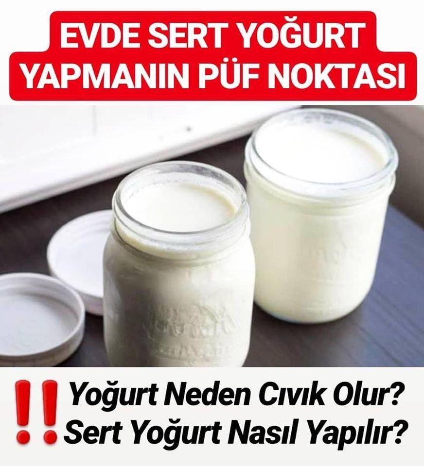 Evde Sert Yoğurt Yapımı