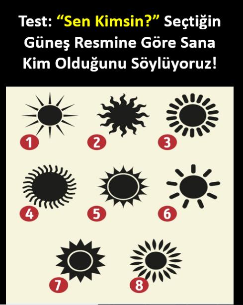 Seçtiğin Güneş Resmi Senin Kim Olduğunu Söylüyor
