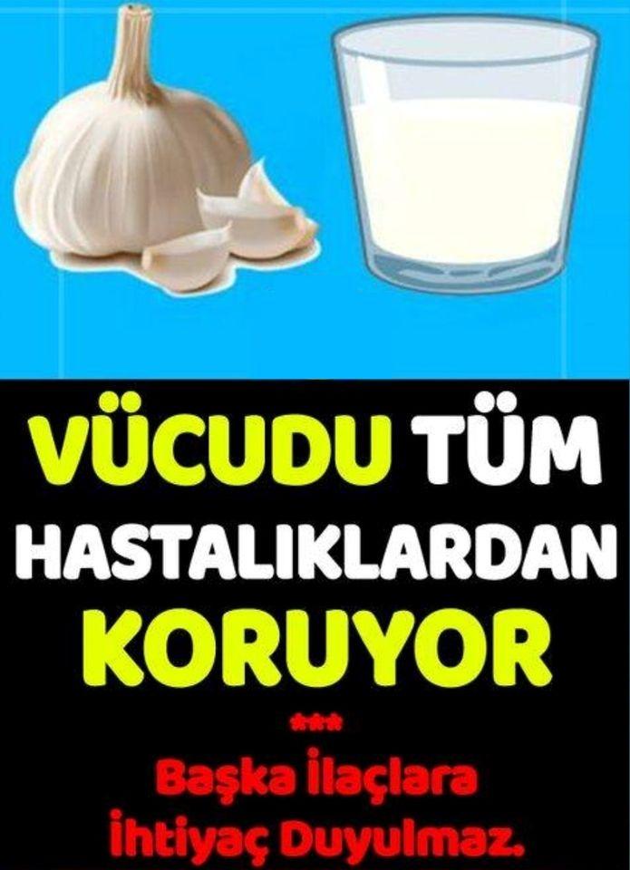 Süt Ve Sarımsak Kürü Vücudunuzu Tüm Hastalıklara Karşı Koruyor